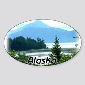 Alaska the Great Land Oval Sticker