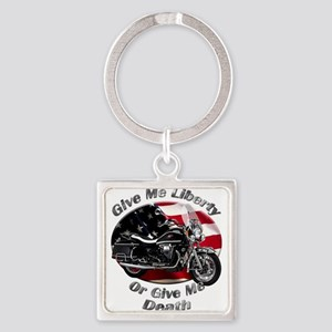 Moto Guzzi California Vintage Square Keychain