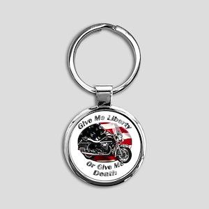 Moto Guzzi California Vintage Round Keychain
