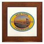 New York Freemason Framed Tile