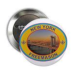 New York Freemason Button