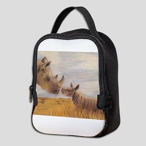 Rhino mom and baby Neoprene Lunch Bag