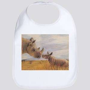 Rhino mom and baby Bib