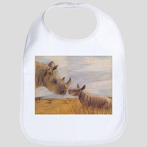 Rhino mom and baby Bib