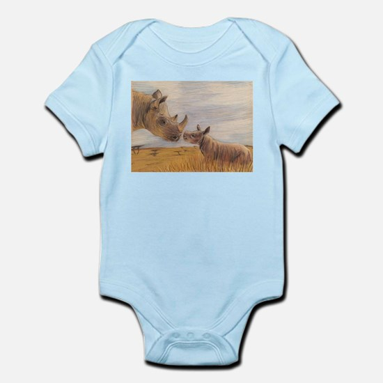 Rhino mom and baby Body Suit