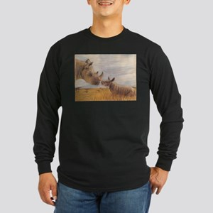 Rhino mom and baby Long Sleeve T-Shirt