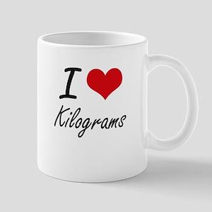 I Love Kilograms Mugs