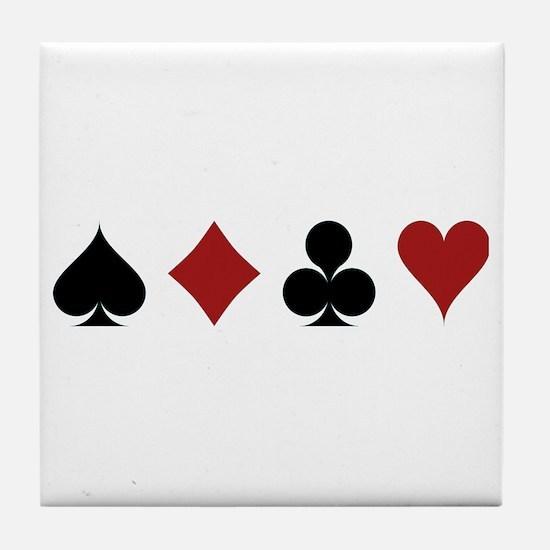 Four Card Suits Tile Coaster