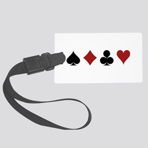 Four Card Suits Large Luggage Tag
