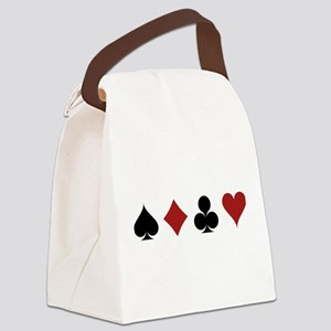 Four Card Suits Canvas Lunch Bag