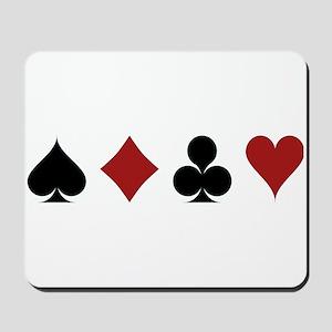 Four Card Suits Mousepad