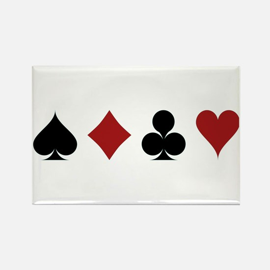 Four Card Suits Magnets