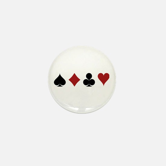 Four Card Suits Mini Button