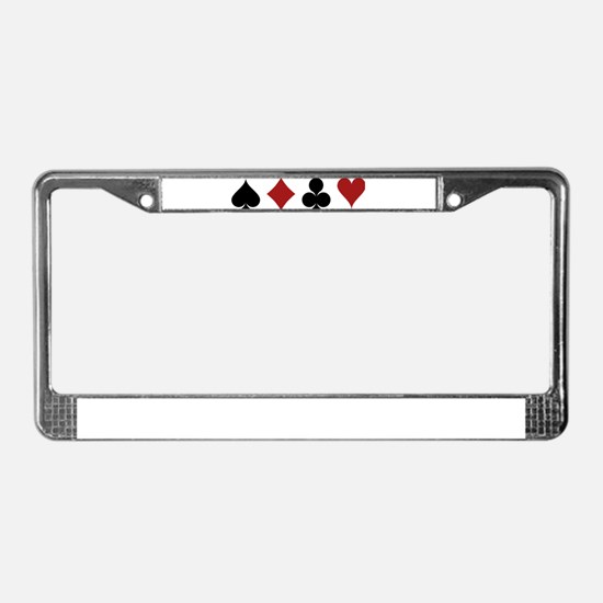 Four Card Suits License Plate Frame