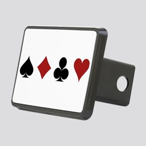 Four Card Suits Rectangular Hitch Cover