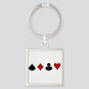 Four Card Suits Keychains