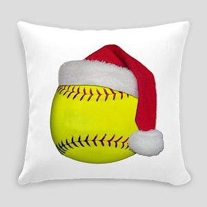 Softball santa png Everyday Pillow