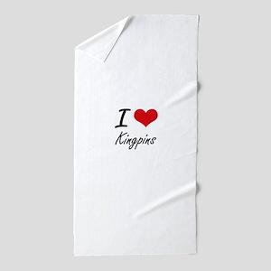 I Love Kingpins Beach Towel