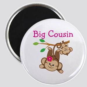 Monkeys Girl Big Cousin Magnet