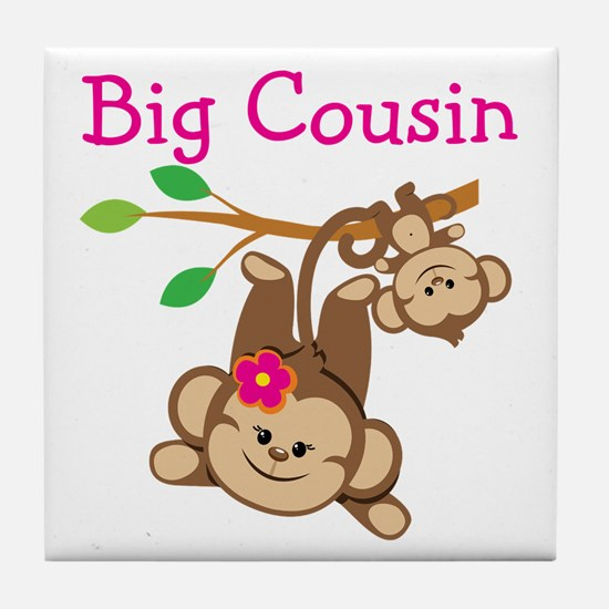 Monkeys Girl Big Cousin Tile Coaster