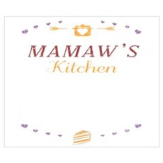 Mamaws Kitchen Where Memories Are Made Gr Wall Art Poster