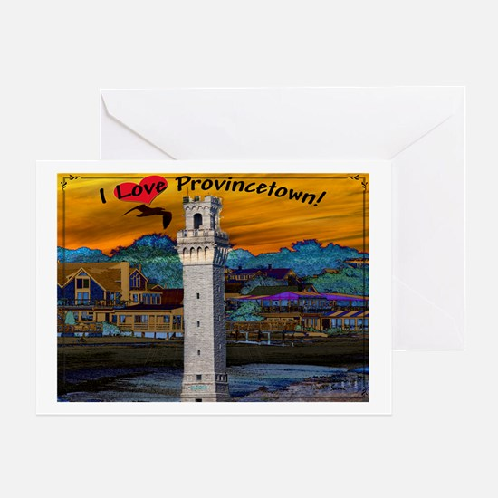 I Love Provincetown Greeting Card
