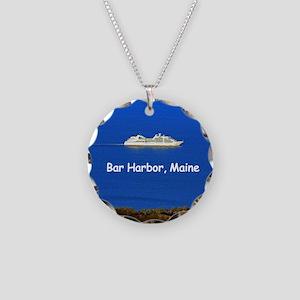 Cruising Bar Harbor Necklace Circle Charm