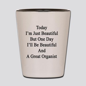 Today I'm Just Beautiful But One Day I' Shot Glass