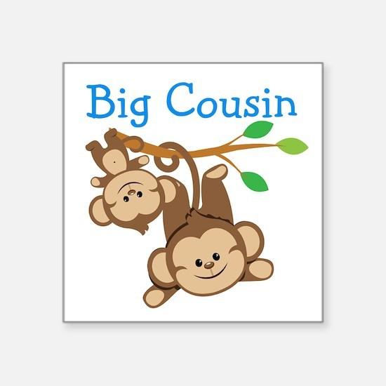 "Boys Monkeys Big Cousin Square Sticker 3"" x 3"""
