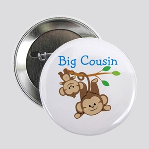 "Boys Monkeys Big Cousin 2.25"" Button"