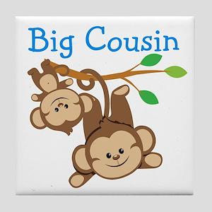Boys Monkeys Big Cousin Tile Coaster
