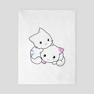 Cute Little Cartoon Kittens Twin Duvet