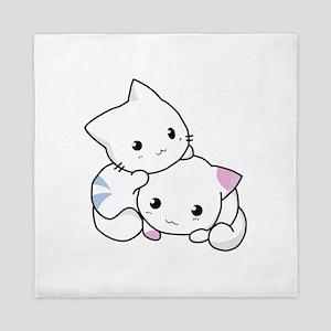 Cute Little Cartoon Kittens Queen Duvet
