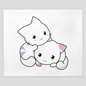 Cute Little Cartoon Kittens King Duvet