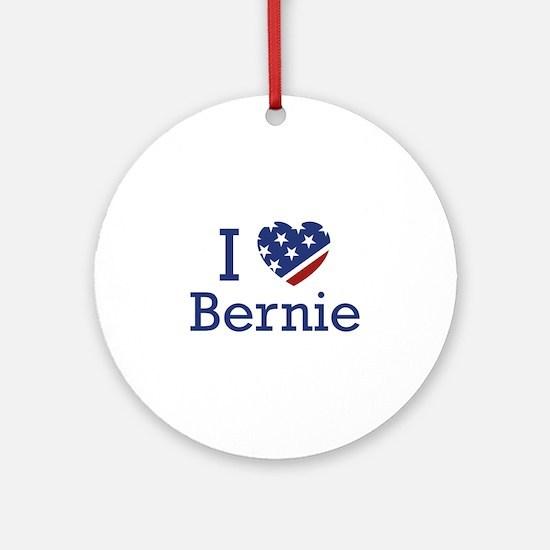 I Love Bernie Ornament (Round)
