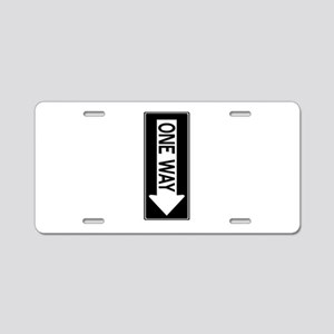 One Way Aluminum License Plate