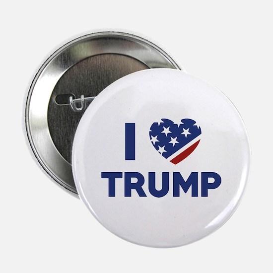 """I Love Trump 2.25"""" Button"""
