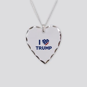 I Love Trump Necklace Heart Charm