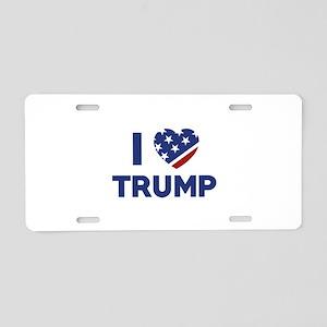 I Love Trump Aluminum License Plate