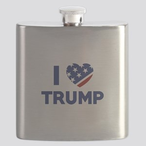 I Love Trump Flask