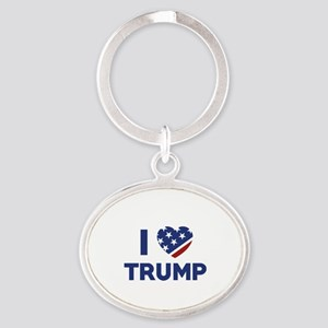 I Love Trump Oval Keychain