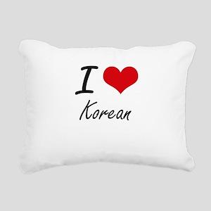 I Love Korean Rectangular Canvas Pillow