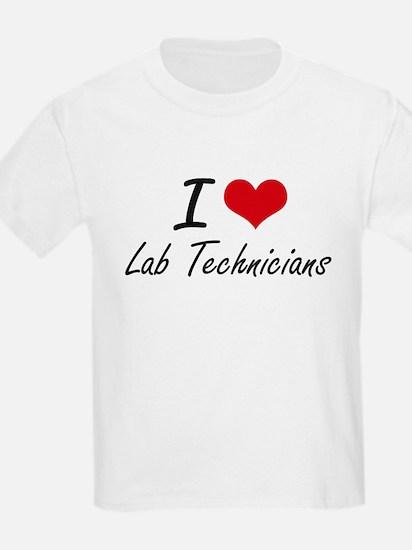 I Love Lab Technicians T-Shirt