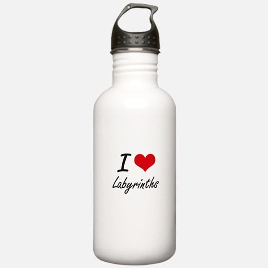 I Love Labyrinths Water Bottle