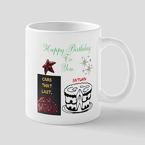 HAPPY BIRTHDAY SATURN CAKE. Mug