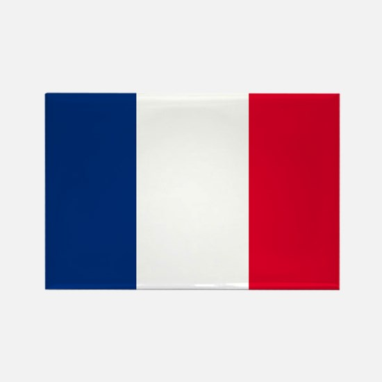 French Flag Rectangle Magnet