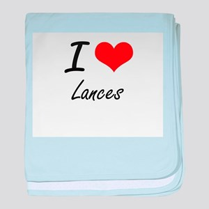 I Love Lances baby blanket