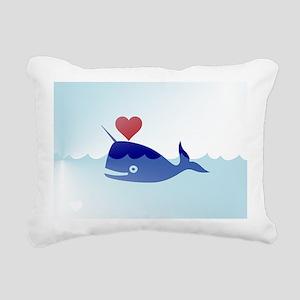 kawaii narwhal Rectangular Canvas Pillow