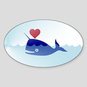 kawaii narwhal Sticker