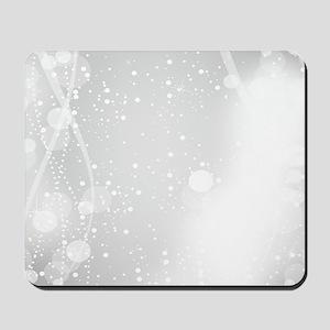 White Modern Glitter Bokeh Style Mousepad